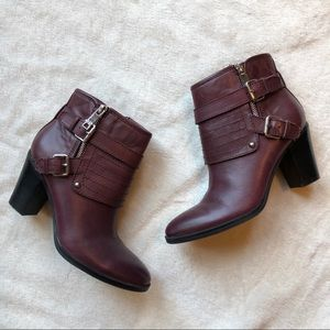 Marc Fisher Engine Boots in Bordeaux